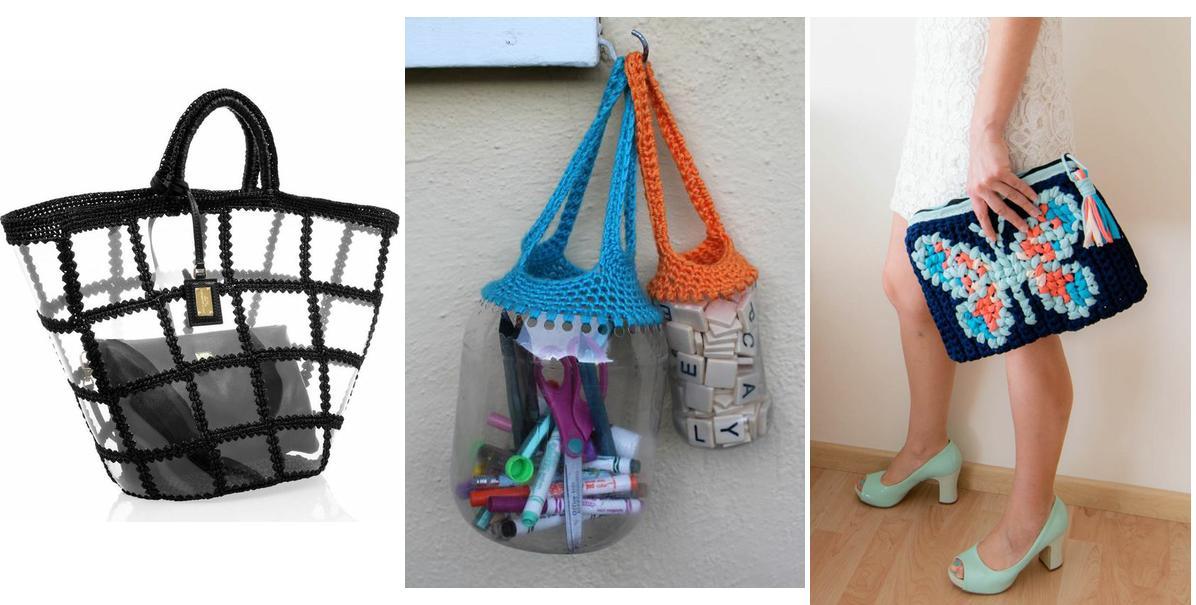 10 bolsos de crochet increíbles hechos con productos reciclados ...