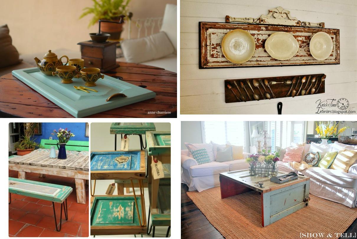 12 inspiradoras ideas para reutilizar puertas de muebles en desuso